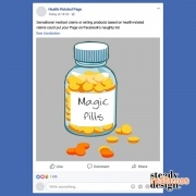 Health-Related Facebook posts could land your page on Facebook's naughty list.