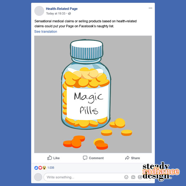 Facebook Downgrades Some Posts on Health-Realted Pages | SRD